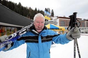 FDP Hahn pistet sich durch die Alpen