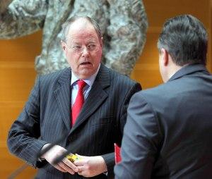 SPD Pressekonferenz Gabriel Steinbrueck