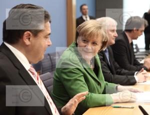 Merkel, Gabriel Seehofer Koalitionsvertrag