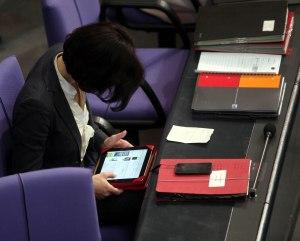 high tech im Bundestag