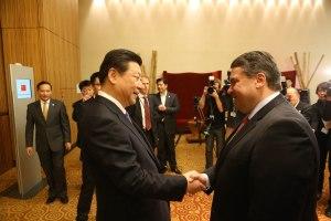 NRW und Sigmar Gabriel mit Xi