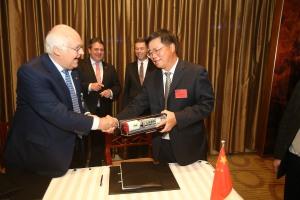 China und Gabriel und Shanghai