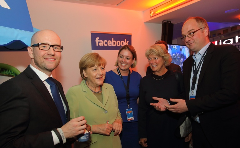 ICE Cream FACEBOOK und Angela Merkel